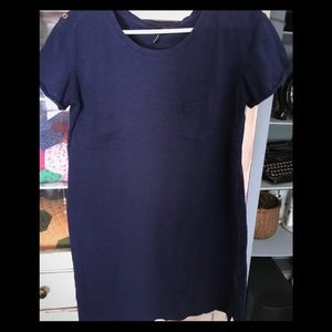 Nicole Miller navy dress/tunic L